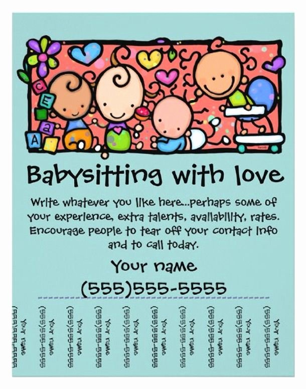 Babysitting Flyer Template Free Awesome 15 Cool Babysitting Flyers 14 Babysitting
