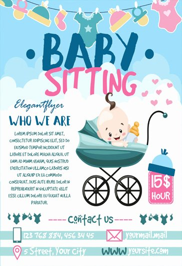 Babysitting Flyer Template Free Awesome Free Babysitting Psd Template – by Elegantflyer