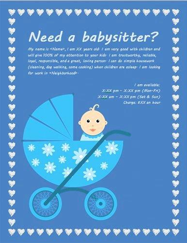 Babysitting Flyer Template Free Best Of Best 20 Babysitting Flyers Ideas On Pinterest
