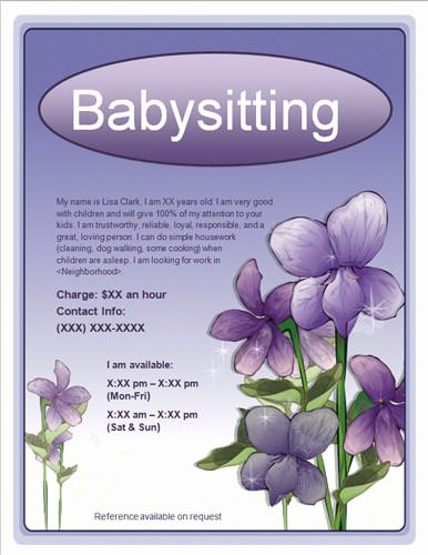 Babysitting Flyer Template Free Elegant Babysitting Quotes for Flyers Quotesgram