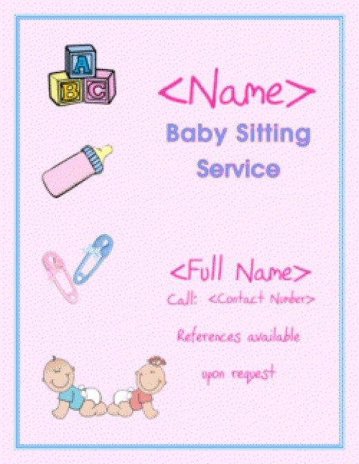 Babysitting Flyer Template Free Fresh 5 Easy Babysitting Flyers