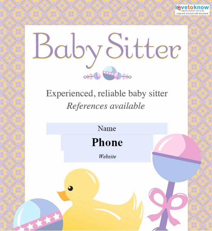 Babysitting Flyer Template Free Lovely 13 Fabulous Psd Baby Sitting Flyer Templates In Word Psd