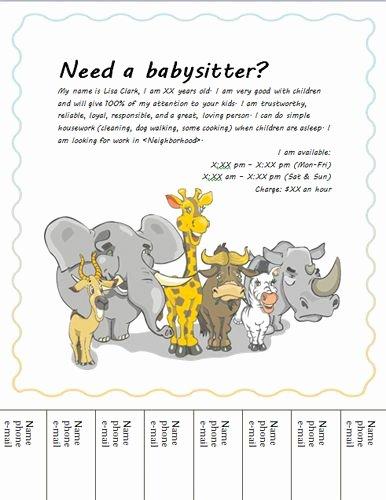 Babysitting Flyer Template Free Luxury Best 20 Babysitting Flyers Ideas On Pinterest
