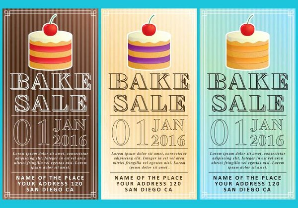 Bake Sale Flyer Template Awesome 18 Bake Sale Flyer Templates Adobe Shop