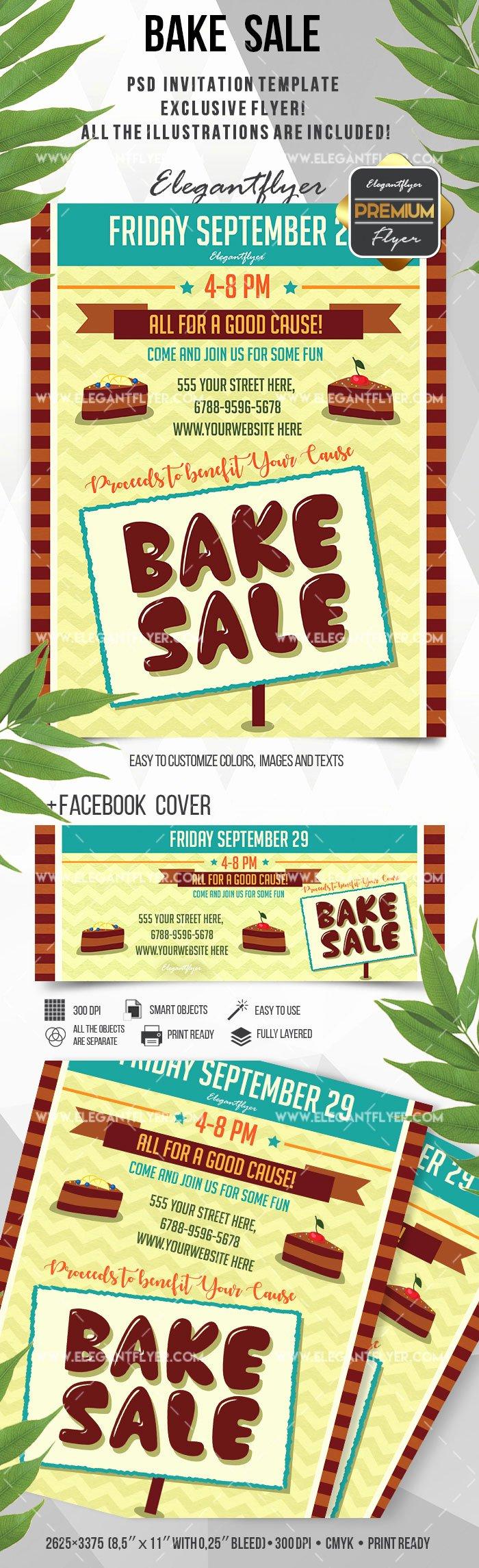 Bake Sale Flyer Template Awesome Flyer for Bake Sale Bakery – by Elegantflyer