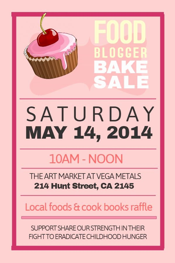 Bake Sale Flyer Template Awesome Printable Pink Bake Sale Poster Template