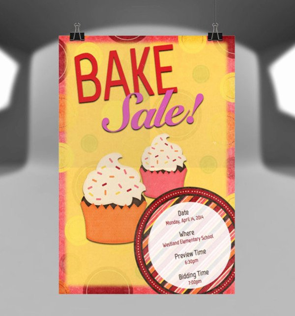 Bake Sale Flyer Template Beautiful 14 Sample Bake Sale Flyer Templates Psd Ai Word