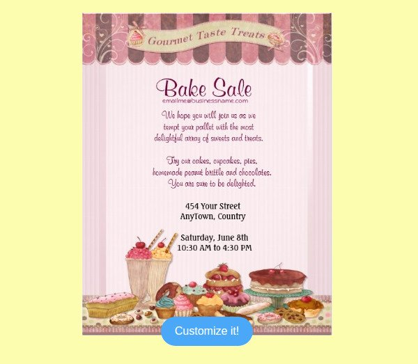 Bake Sale Flyer Template Beautiful 32 Bake Sale Flyer Templates Ai Psd Publisher