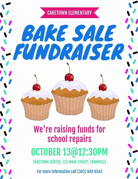 Bake Sale Flyer Template Best Of Bake Sale Fundraiser Flyer Template