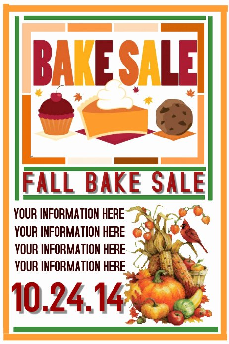 Bake Sale Flyer Template Best Of Fall Bake Sale Template