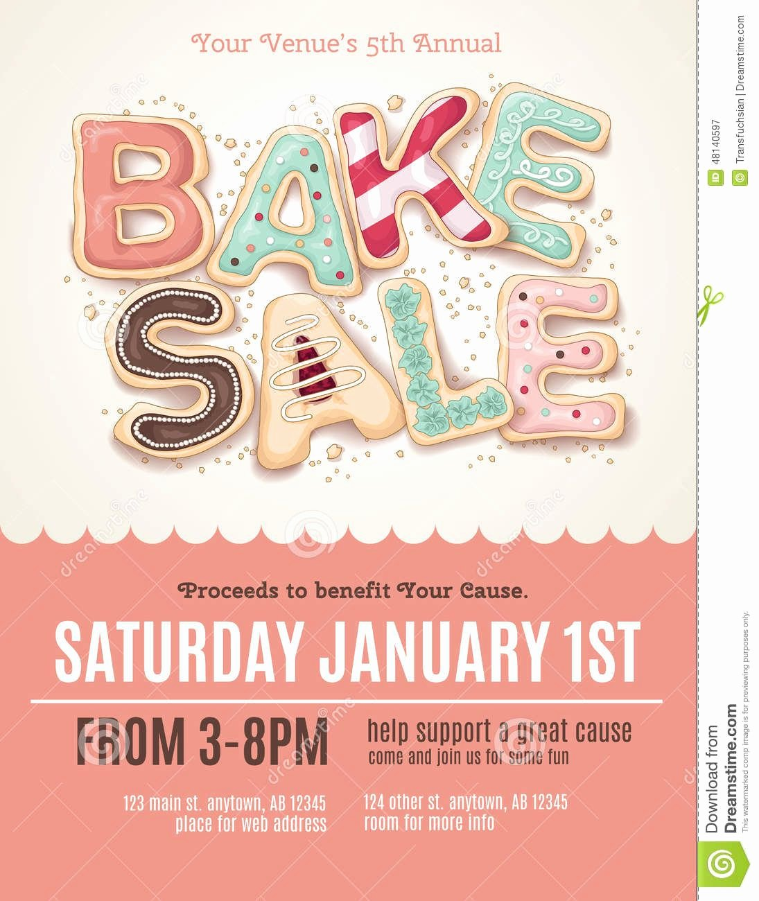Bake Sale Flyer Template Best Of Fun Cookie Bake Sale Flyer Template Download From Over