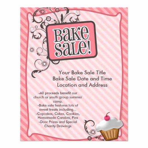 Bake Sale Flyer Template Best Of Small Bake Sale Flyers Sweet Pink Swirls