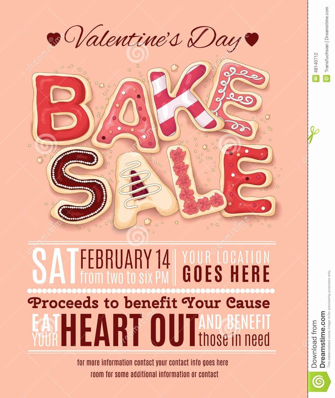 Bake Sale Flyer Template Elegant Valentines Day Bake Sale Flyer Template Download From