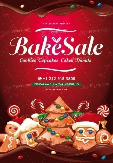 Bake Sale Flyer Template Fresh Bake Sale Psd Flyer Template Styleflyers