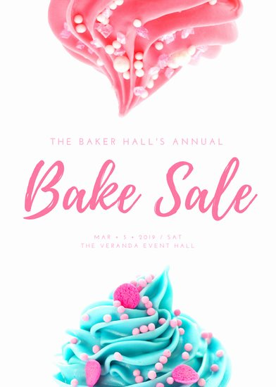 Bake Sale Flyer Template Fresh Pink & White Cute Feminine Bake Sale Flyer Templates by