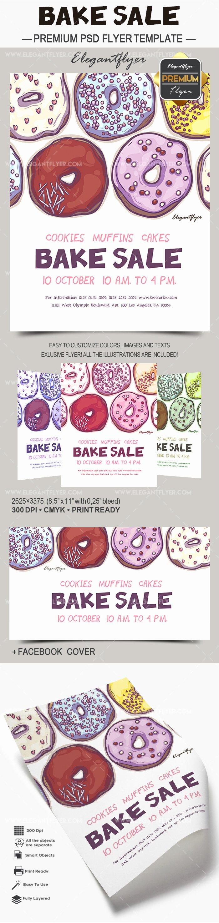 Bake Sale Flyer Template Inspirational Bake Sale Flyer Template – by Elegantflyer