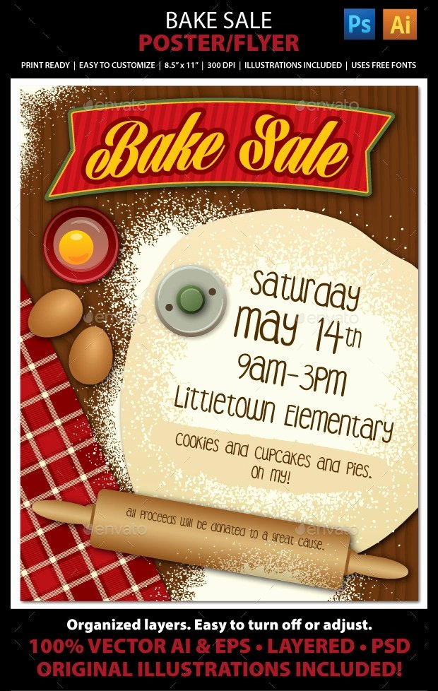 Bake Sale Flyer Template Lovely 25 Bake Sale Flyer Templates Ms Word Publisher
