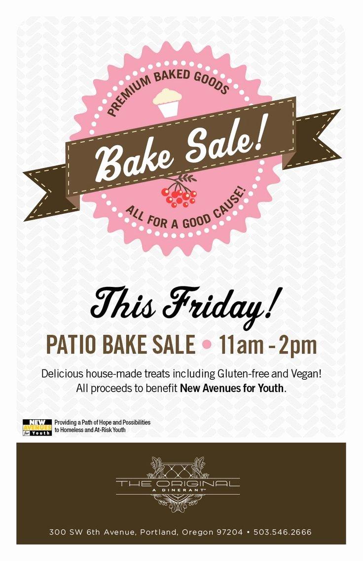 Bake Sale Flyer Template Luxury Bake Sale Flyer … Bake Sale Printables