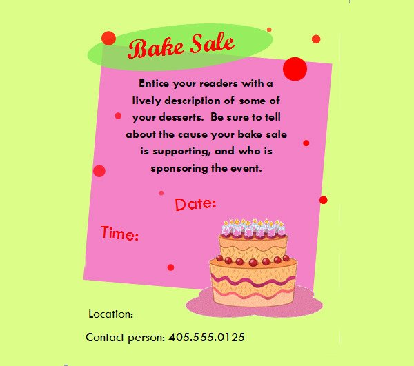 Bake Sale Flyer Template New 32 Bake Sale Flyer Templates Ai Psd Publisher