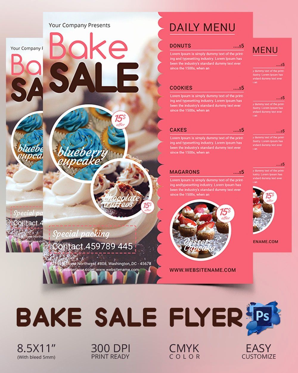 Bake Sale Flyer Template Unique Bake Sale Flyer Template 34 Free Psd Indesign Ai