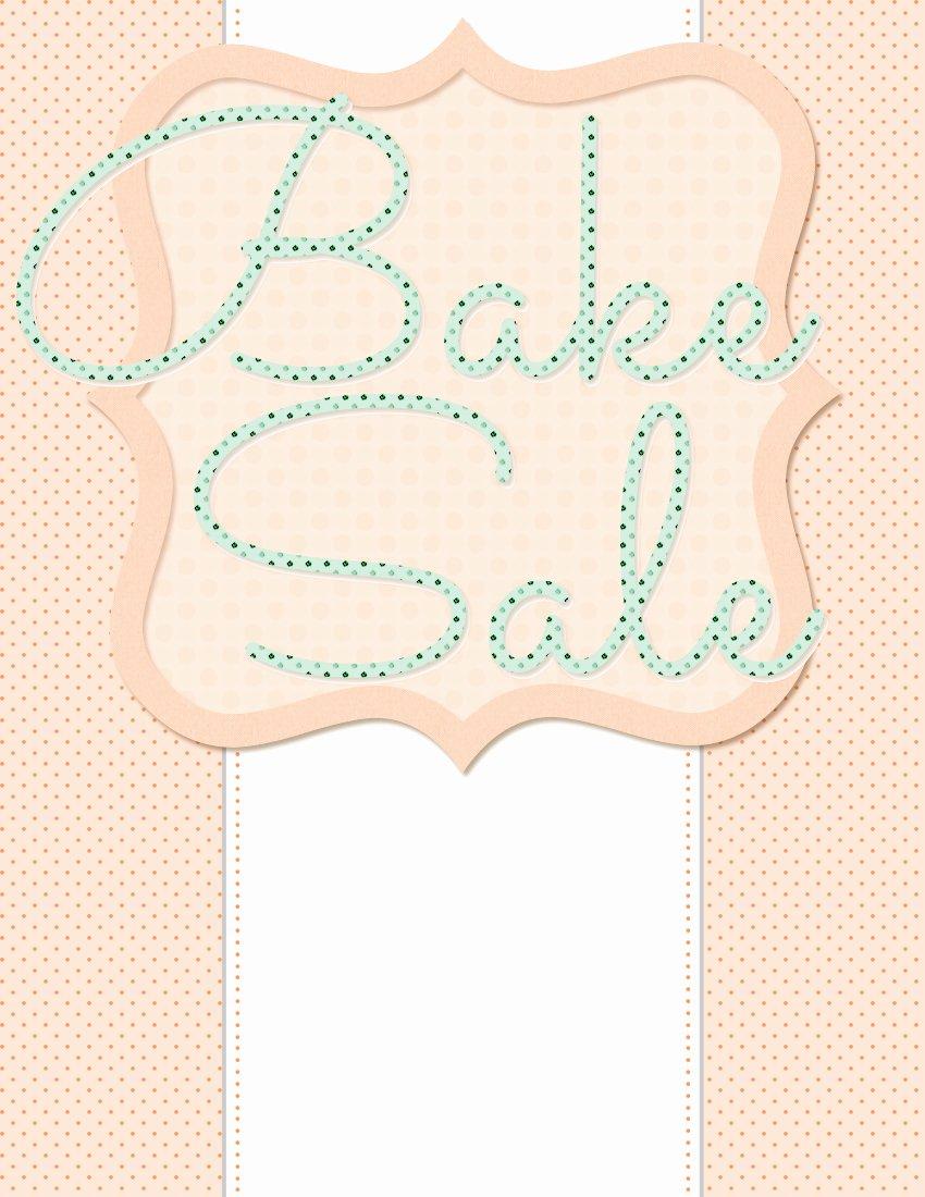 Bake Sale Flyer Template Word Elegant 5 Free Bake Sale Flyer Templates
