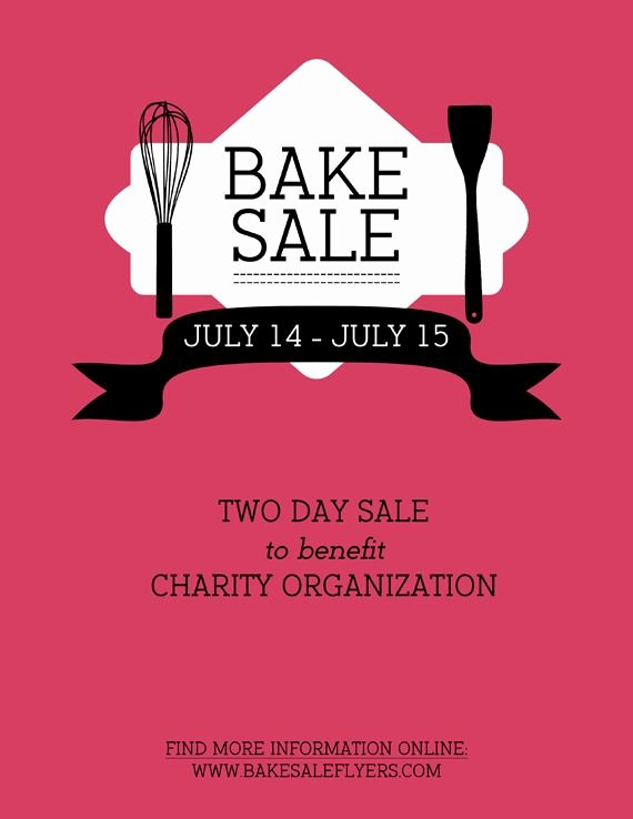Bake Sale Flyer Template Word Lovely Best 25 Bake Sale Flyer Ideas On Pinterest