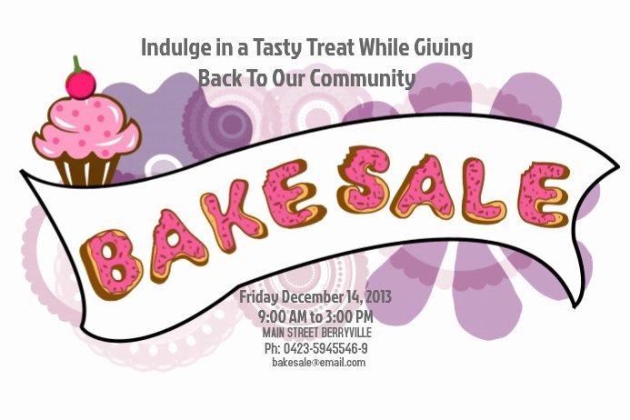 Bake Sale Flyer Template Word Luxury Bake Sale Flyer Template