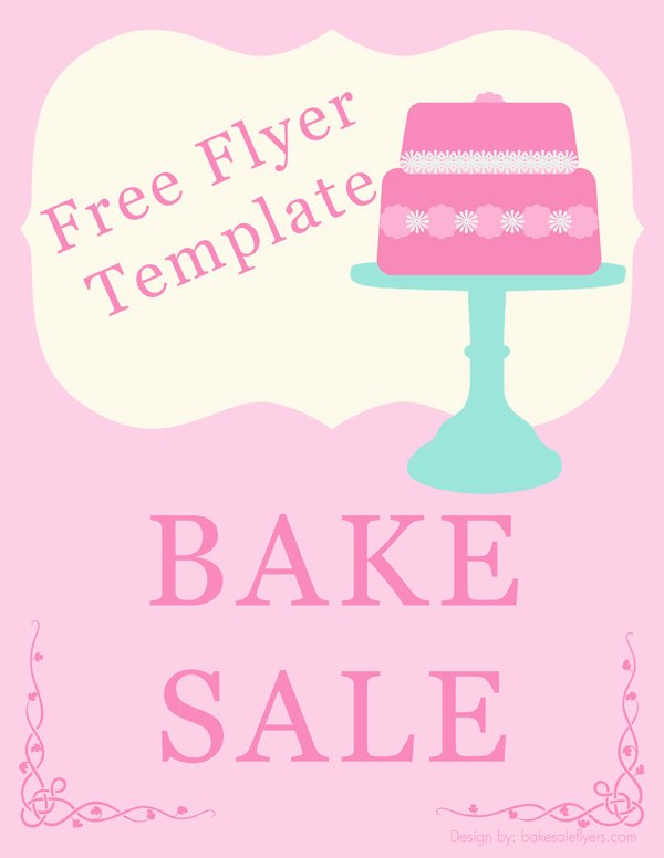 Bake Sale Fundraiser Flyer Template Awesome Bake Sale Flyers – Free Flyer Designs