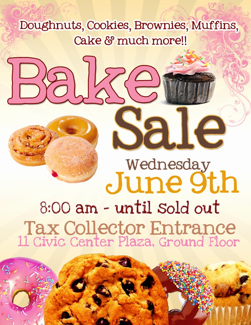Bake Sale Fundraiser Flyer Template Awesome Pretty Witty Designs some Flyers