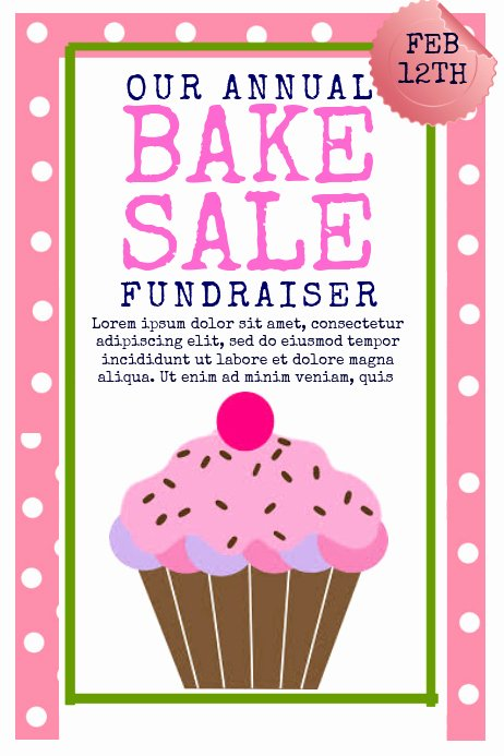 Bake Sale Fundraiser Flyer Template Beautiful Bake Sale Template