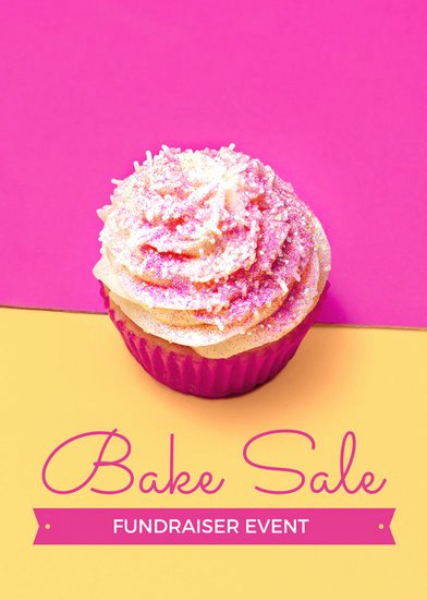 Bake Sale Fundraiser Flyer Template Beautiful Pink and Yellow Bake Sale Fundraiser Flyer Templates by