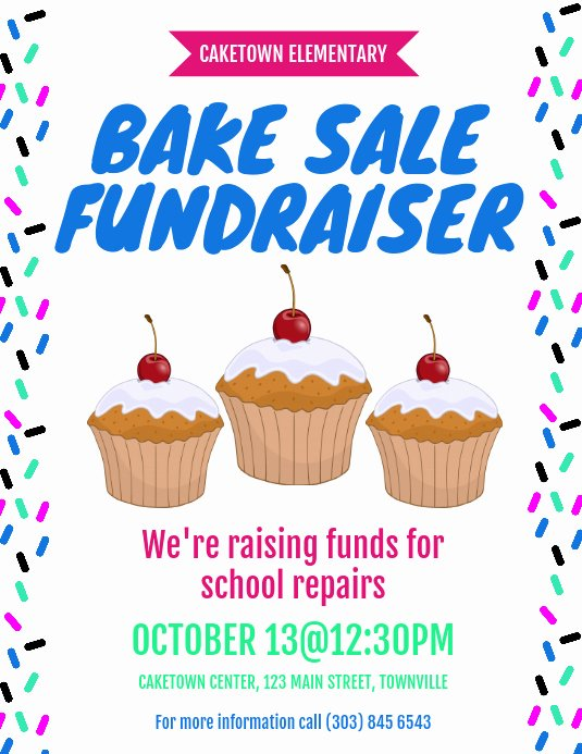 Bake Sale Fundraiser Flyer Template Best Of Bake Sale Fundraiser Flyer Template