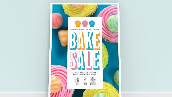 Bake Sale Fundraiser Flyer Template Elegant 18 Bake Sale Flyer Templates Adobe Shop