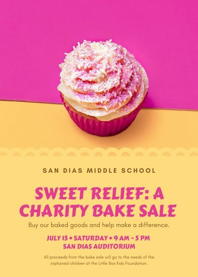 Bake Sale Fundraiser Flyer Template Elegant Customize 36 Fundraiser Flyer Templates Online Canva