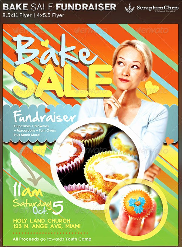 Bake Sale Fundraiser Flyer Template Lovely 17 Bake Sale Flyers