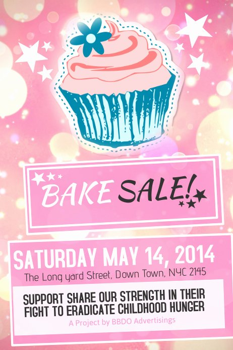 Bake Sale Fundraiser Flyer Template Lovely Bake Sale Poster Template
