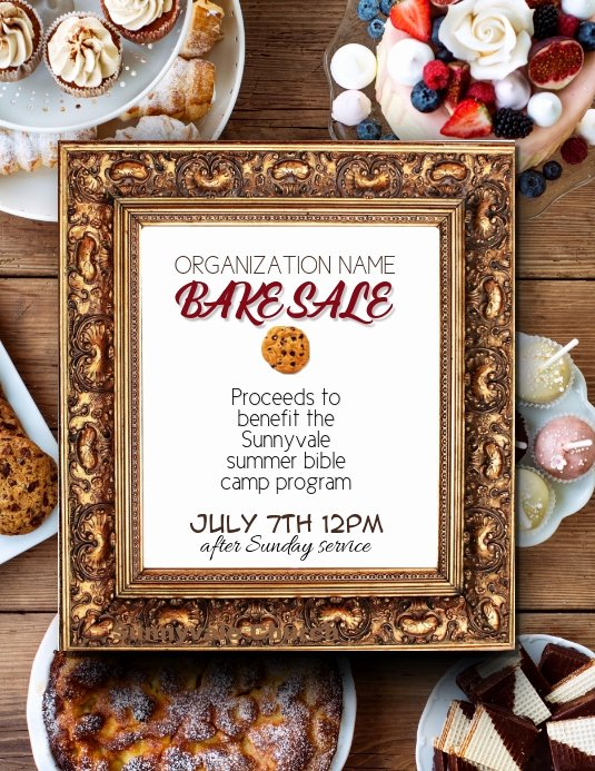 Bake Sale Fundraiser Flyer Template Lovely Fundraiser Bake Sale Flyer Template