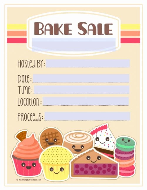Bake Sale Fundraiser Flyer Template Luxury 17 Best Bake Sale Poster Ideas Images On Pinterest