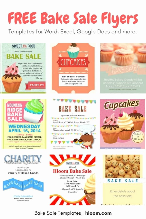 Bake Sale Fundraiser Flyer Template Luxury 17 Best Images About Bake Sale Flyers On Pinterest