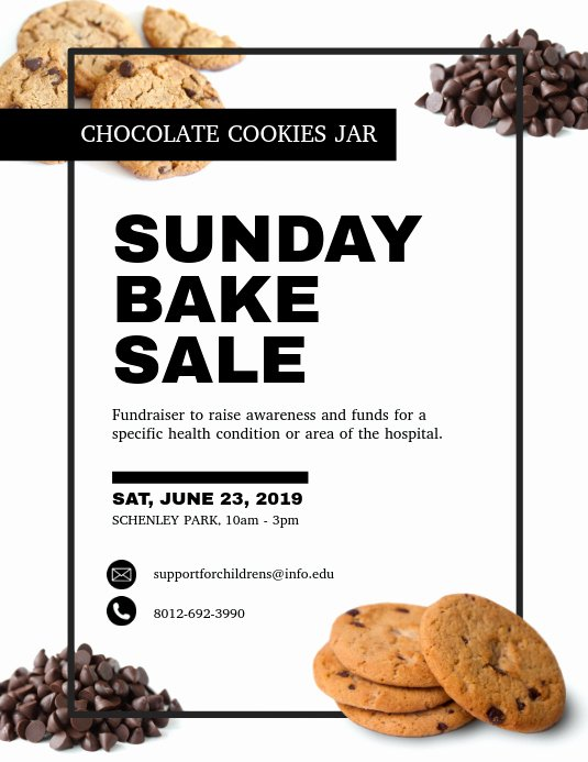 Bake Sale Fundraiser Flyer Template New Bake Sale Fundraising Flyer Template