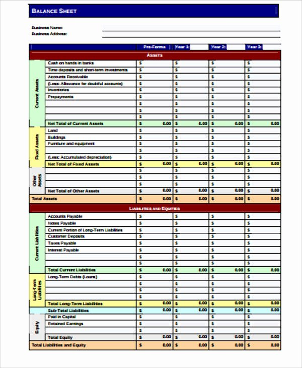Balance Sheet Template Pdf Beautiful Sample Balance Sheets In Pdf 10 Examples In Word Pdf