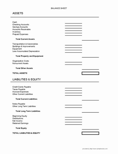 Balance Sheet Template Pdf Best Of Balance Sheet form