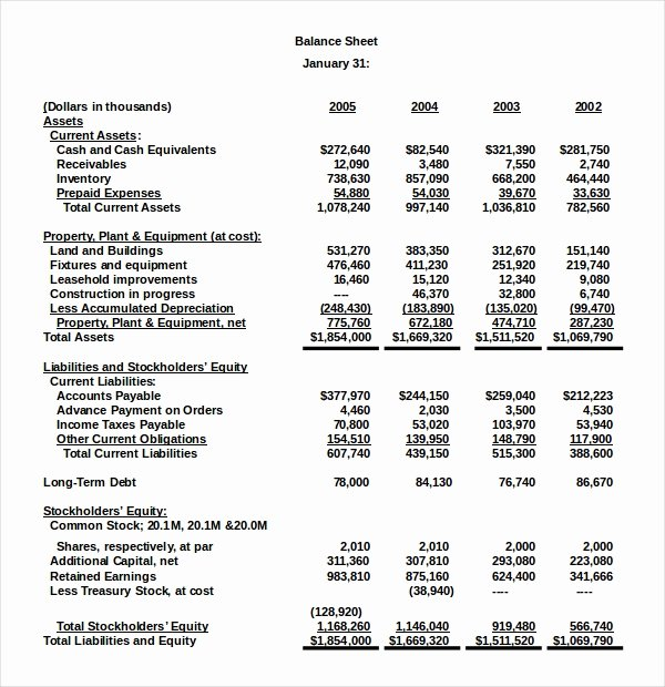 Balance Sheet Template Pdf Best Of New Example Net Worth