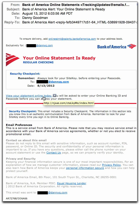 Bank Of America Statement Template Inspirational Spam Wars Our Last Best Chance to Defeat Spammers