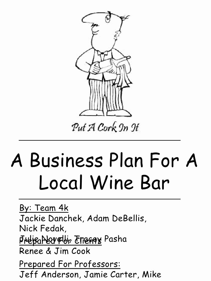 Bar Business Plan Template New Local Wine Bar Business Plan