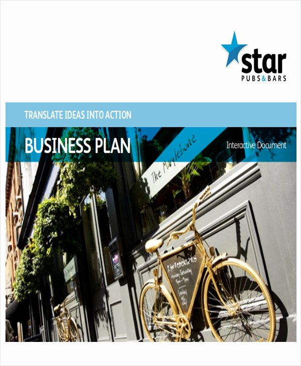 Bar Business Plan Template Unique 10 Sample Bar Business Plans Examples In Word Pdf