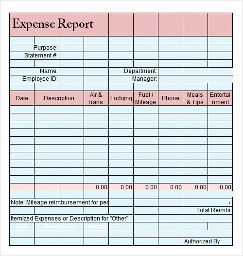 Basic Expense Report Template Inspirational Report Template Download Free Documents In Pdf Word