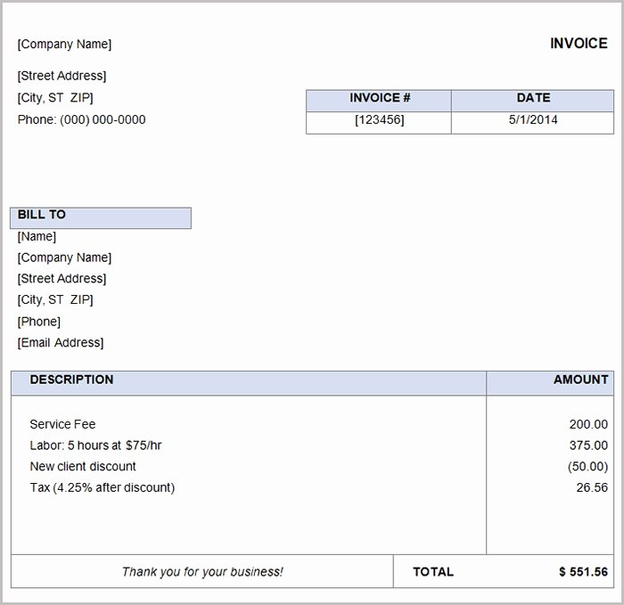 Basic Invoice Template Word Luxury 16 Free Basic Invoice Templates