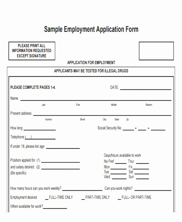 Basic Job Application Templates Lovely Basic Application form Template 4 Contesting Wiki