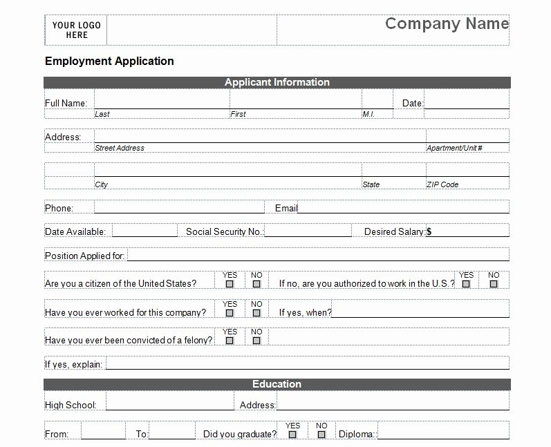 Basic Job Application Templates New Basic Job Application